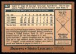 1978 O-Pee-Chee #102  Sixto Lezcano  Back Thumbnail