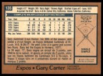 1978 O-Pee-Chee #135  Gary Carter  Back Thumbnail