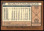 1978 O-Pee-Chee #168  John Mayberry  Back Thumbnail