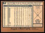 1978 O-Pee-Chee #40  Ron Fairly  Back Thumbnail