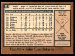 1978 O-Pee-Chee #221  John Candelaria  Back Thumbnail