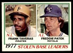 1978 O-Pee-Chee #4   -  Frank Taveras / Freddie Patek SB Leaders  Front Thumbnail