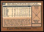 1978 O-Pee-Chee #162  Don Stanhouse  Back Thumbnail