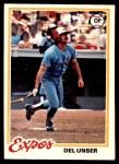 1978 O-Pee-Chee #216  Del Unser  Front Thumbnail