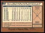 1978 O-Pee-Chee #16  Amos Otis  Back Thumbnail