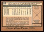 1978 O-Pee-Chee #60  Dave Parker  Back Thumbnail