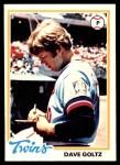 1978 O-Pee-Chee #142  Dave Goltz  Front Thumbnail