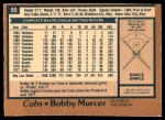 1978 O-Pee-Chee #95  Bobby Murcer  Back Thumbnail