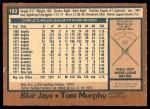 1978 O-Pee-Chee #193  Tom Murphy  Back Thumbnail