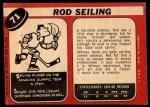 1968 O-Pee-Chee #71  Rod Seiling  Back Thumbnail