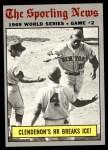 1970 Topps #306   -  Donn Clendenon 1969 World Series - Game #2 - Clendenon's HR Breaks Ice Front Thumbnail