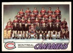 1977 O-Pee-Chee #80   Canadiens Team Front Thumbnail