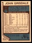 1977 O-Pee-Chee #277  John Grisdale  Back Thumbnail
