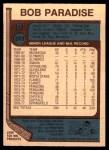 1977 O-Pee-Chee #203  Bob Paradise  Back Thumbnail