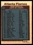 1977 O-Pee-Chee #71   Flames Team Back Thumbnail