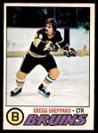 1977 O-Pee-Chee #95  Gregg Sheppard  Front Thumbnail