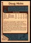 1977 O-Pee-Chee #361  Doug Hicks  Back Thumbnail