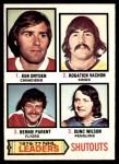 1977 O-Pee-Chee #8   -  Ken Dryden / Rogatien Vachon / Bernie Parent / Dunc Wilson Shutout Leaders Front Thumbnail