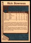 1977 O-Pee-Chee #265  Rick Bowness  Back Thumbnail