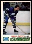 1977 O-Pee-Chee #295  Harold Snepsts  Front Thumbnail