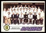 1977 O-Pee-Chee #72   Bruins Team Front Thumbnail
