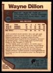 1977 O-Pee-Chee #166  Wayne Dillon  Back Thumbnail