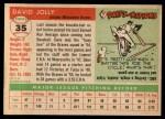1955 Topps #35  Dave Jolly  Back Thumbnail