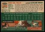 1954 Topps #159  Dave Philley  Back Thumbnail