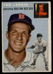 1954 Topps #66  Ted Lepcio  Front Thumbnail