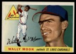 1955 Topps #67 DOT Wally Moon  Front Thumbnail