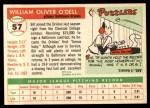 1955 Topps #57  Billy O'Dell  Back Thumbnail