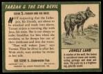 1953 Topps Tarzan and the She Devil #5   Tarzan and His Mate Back Thumbnail