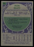 1975 Topps #87  Ron Riley  Back Thumbnail