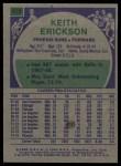 1975 Topps #113  Keith Erickson  Back Thumbnail