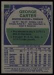 1975 Topps #230  George Carter  Back Thumbnail