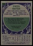 1975 Topps #231  Swen Nater  Back Thumbnail
