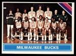 1975 Topps #213   Milwaukee Bucks Front Thumbnail