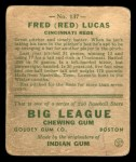 1933 Goudey #137  Red Lucas  Back Thumbnail
