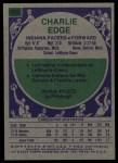 1975 Topps #269  Charlie Edge  Back Thumbnail