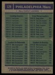 1975 Topps #129   -  Fred Carter / Billy Cunningham / Doug Collins 76ers Leaders Back Thumbnail