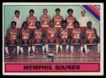 1975 Topps #324   Memphis Sounds Front Thumbnail