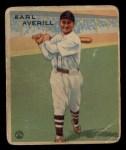 1933 Goudey #194  Earl Averill  Front Thumbnail