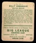 1933 Goudey #172  Billy Hargrave  Back Thumbnail