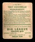 1933 Goudey #99  Tony Cuccinello  Back Thumbnail
