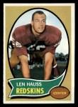 1970 Topps #124  Len Hauss  Front Thumbnail