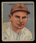 1933 Goudey #190  Fred Schulte  Front Thumbnail