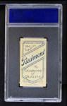 1909 T206 C Red Kleinow  Back Thumbnail