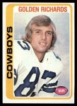 1978 Topps #494  Golden Richards  Front Thumbnail