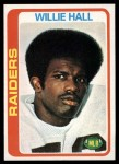 1978 Topps #345  Willie Hall  Front Thumbnail