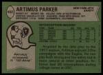 1978 Topps #402  Artimus Parker  Back Thumbnail